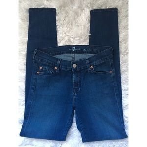 """7 For All Mankind """"The Skinny"""" Skinny Jeans 26"""